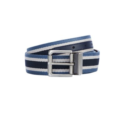 Fashion 4 Men - yd. Ellington Reversible Belt Blue/Tan 36