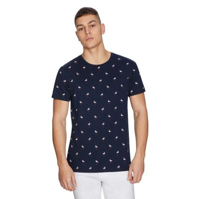 Fashion 4 Men - yd. Flamingo Tee Navy S