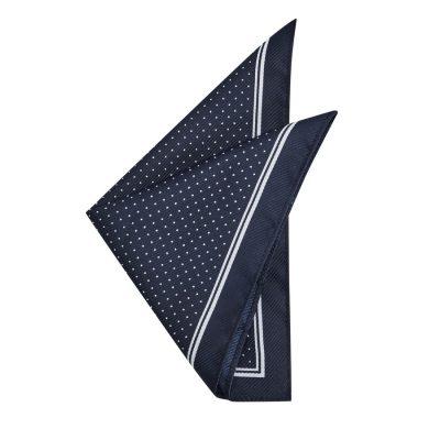 Fashion 4 Men - yd. Idris Spot Pocket Square Dark Blue One