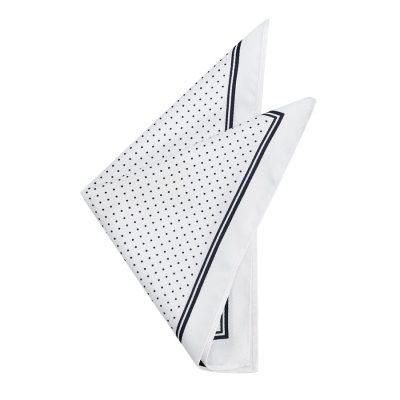 Fashion 4 Men - yd. Idris Spot Pocket Square White One