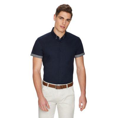 Fashion 4 Men - yd. Lenny Slim Shirt Dark Blue Xl