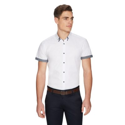 Fashion 4 Men - yd. Lenny Slim Shirt White 2 Xs