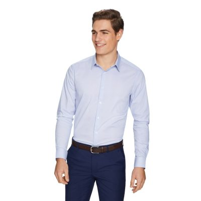Fashion 4 Men - yd. Mitchell Dress Shirt Blue L