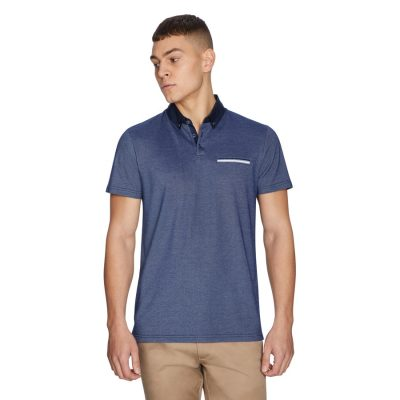 Fashion 4 Men - yd. Potter Polo Denim Blue S