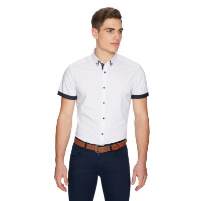 Fashion 4 Men - yd. Royal Slim Shirt White L