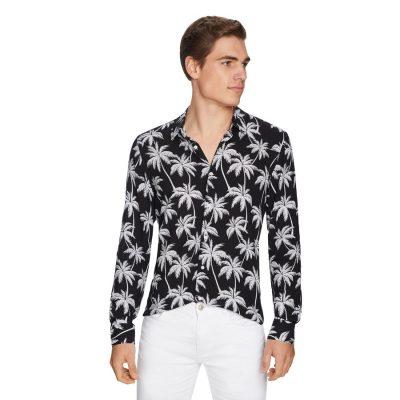 Fashion 4 Men - yd. Santiago Viscose Shirt Black M