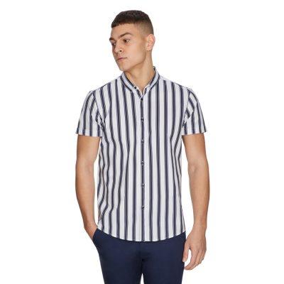 Fashion 4 Men - yd. Senna Stripe Shirt White Xl