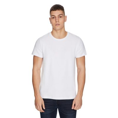 Fashion 4 Men - yd. Texture Basic Tee White Xl