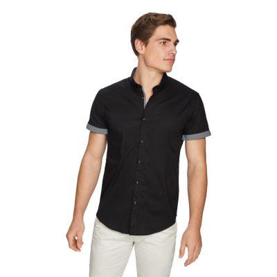 Fashion 4 Men - yd. Thunder Slim Shirt Black Xxxl