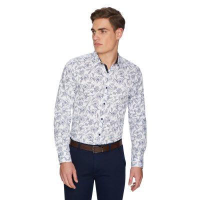 Fashion 4 Men - yd. Waimea Floral Shirt White L