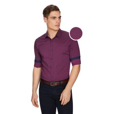 Fashion 4 Men - yd. Andre Slim Shirt Burgundy Xl