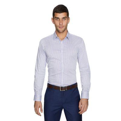 Fashion 4 Men - yd. Antonio Stripe Slim Dress Shirt Lilac Xl