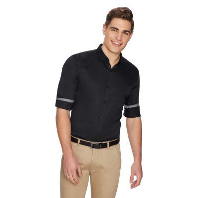 Fashion 4 Men - yd. Asher Slim Shirt Black 2 Xs