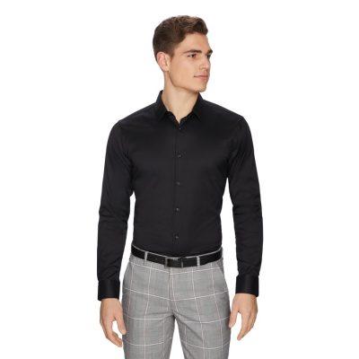 Fashion 4 Men - yd. Axe Dress Shirt Black S