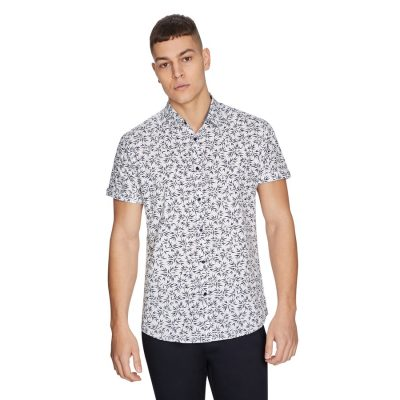 Fashion 4 Men - yd. Bamboo Shirt White 2 Xs