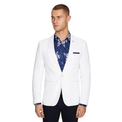 Fashion 4 Men - yd. Bianco Stretch Blazer White L