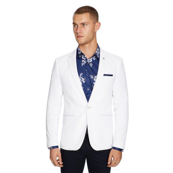 Fashion 4 Men - yd. Bianco Stretch Blazer White Xxl