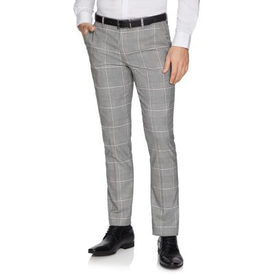 Fashion 4 Men - yd. Capone Skinny Dress Pant Grey 28