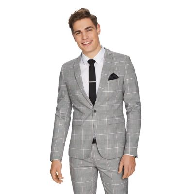 Fashion 4 Men - yd. Capone Skinny Suit Jacket Grey 38