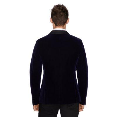Fashion 4 Men - yd. Casino Velvet Blazer Navy Xl