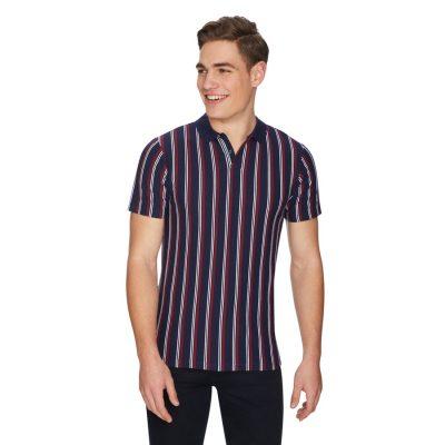 Fashion 4 Men - yd. Crunch Stripe Polo Navy Xs
