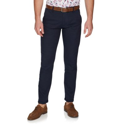 Fashion 4 Men - yd. Euro Linen Slim Chino Ink 33