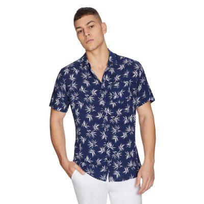 Fashion 4 Men - yd. Fern Short Sleeve Shirt Blue Xxxl