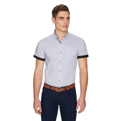 Fashion 4 Men - yd. Freddie Slim Shirt Blue S