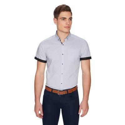 Fashion 4 Men - yd. Freddie Slim Shirt Blue Xxxl