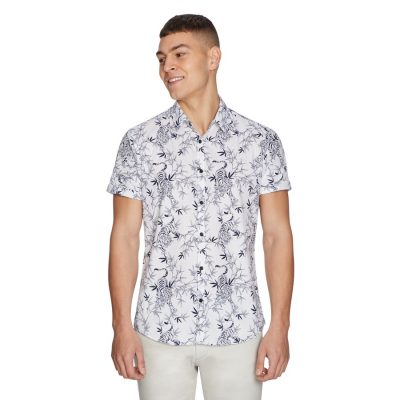 Fashion 4 Men - yd. Jungle Shirt White S
