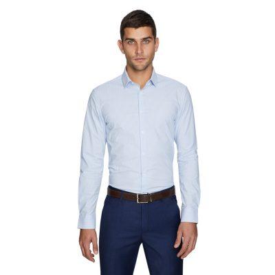 Fashion 4 Men - yd. Knight Slim Dress Shirt Sky Blue M