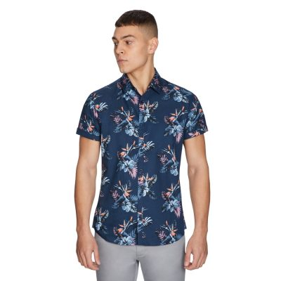 Fashion 4 Men - yd. Langley Shirt Navy Xl