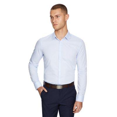Fashion 4 Men - yd. Largo Slim Fit Dress Shirt Light Blue S