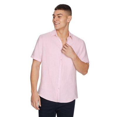 Fashion 4 Men - yd. Lewis Linen Shirt Pink S