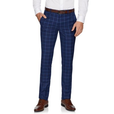 Fashion 4 Men - yd. Maxi Skinny Dress Pant Blue 34