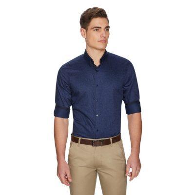 Fashion 4 Men - yd. Midnight Floral Shirt Dark Blue 3 Xs