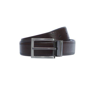 Fashion 4 Men - yd. Miles Brogue Dress Belt Chocolate 38