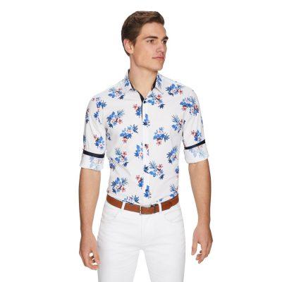 Fashion 4 Men - yd. North Shore Slim Shirt White M
