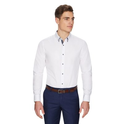 Fashion 4 Men - yd. Oliver Slim Dress Shirt White Xs