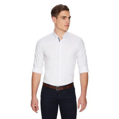 Fashion 4 Men - yd. Ollie Oxford Shirt White L
