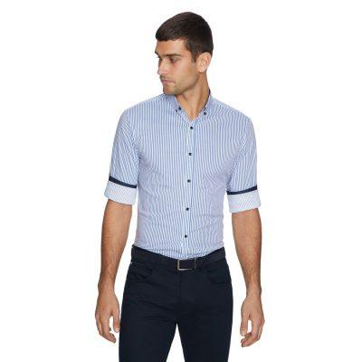 Fashion 4 Men - yd. Samuel Slim Fit Shirt Blue Xl