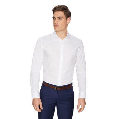 Fashion 4 Men - yd. Smithy Slim Dress Shirt White 2 Xs