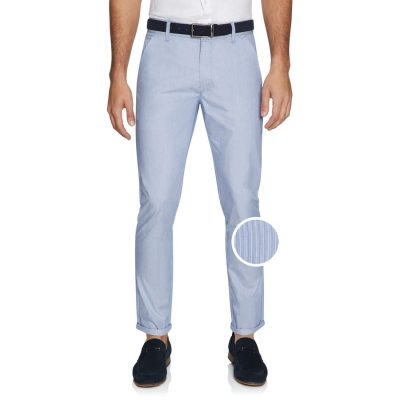 Fashion 4 Men - yd. Stripe Skinny Chinos Blue 33