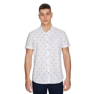 Fashion 4 Men - yd. Tiger Shirt White S