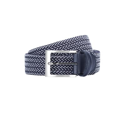 Fashion 4 Men - yd. Tropez Stretch Belt Blue 34