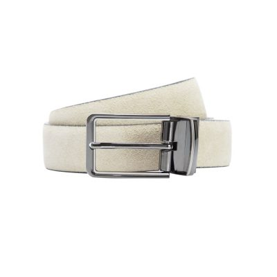 Fashion 4 Men - yd. Tuscan Suede Dress Belt Natural 36