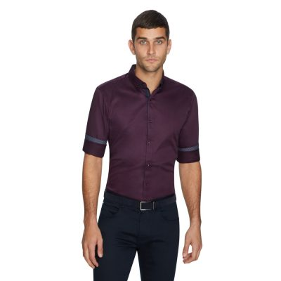 Fashion 4 Men - yd. Varadero Slim Shirt Burgundy 3 Xs
