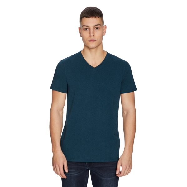 Fashion 4 Men - yd. Vinton Tee Deep Teal Marle 2 Xs