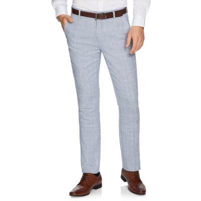 Fashion 4 Men - yd. Wilson Linen Skinny Dress Pant Ice Blue 34