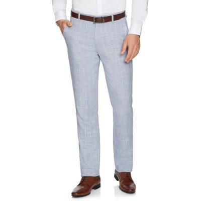 Fashion 4 Men - yd. Wilson Linen Slim Dress Pant Ice Blue 34